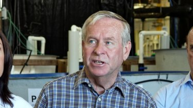 Premier Colin Barnett on the campaign trail.