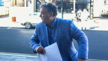 One Nation senator Rod Culleton arrives at Armidale court in August.
