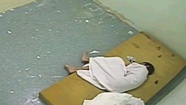 A youth is left in solitary confinement in the ABC footage.