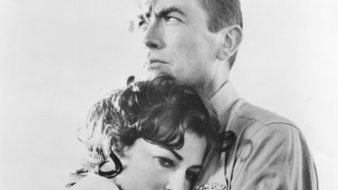 Ava Gardner and Gregory Peck star in <i>On the Beach</I>.