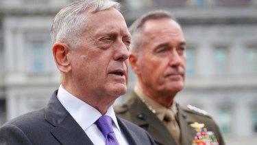Defense Secretary Jim Mattis, and Joint Chiefs Chairman General Joseph Dunford