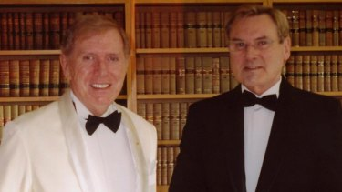 Michael Kirby with Johan van Vloten in the High Court chamber.