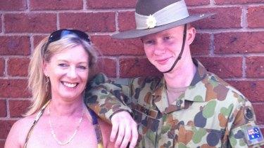 Alex Thomas and his mother Cherene Thomas-Smith.
