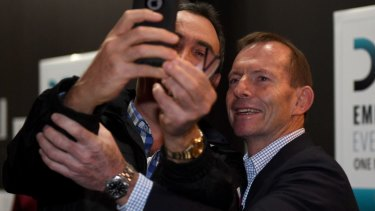 """Former PM Tony Abbott's choice of speech title """"Why Settle For Second Best?"""" was pointed."""