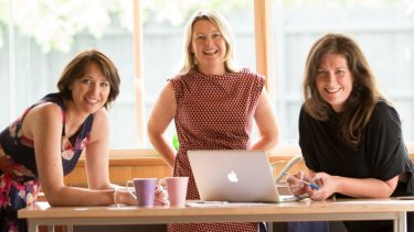 Mothers embracing self-employment with online businesses, left to right: Katrina McCarter, Jen Petrovic, Gaby Chapman.