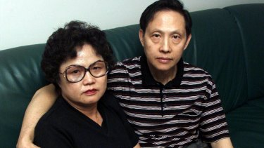 Quanne Diec'ss parents, Ann and Sam, pictured after their daughter went missing.