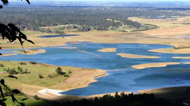 The NSW government plans to turn the Penrith Lakes area into a lakeside urban wonderland.