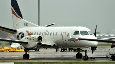 A propeller sheared off the Regional Express Saab 340 in mid-air last month.