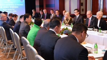Australian CEOs meet Indonesian President Joko Widodo in Sydney last month.