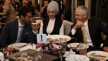 Senator Cory Bernardi is upset Prime Minister Malcolm Turnbull spent time with broadcaster Waleed Aly and his wife Susan Carland at Kirribilli House.