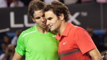 Rafael Nadal and Roger Federer.