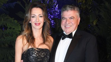 Amber and John Symond. Their new superyacht is soon to be unveiled in Monte Carlo.