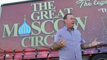 General manager Shane Lennon says contractors, staff and performers have been left stranded by the collapse of the Great Moscow Circus.