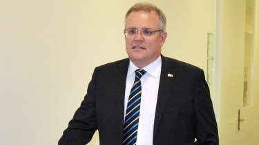 """We're not going to allow ... just decisions to tumble out of the sky"": Scott Morrison."