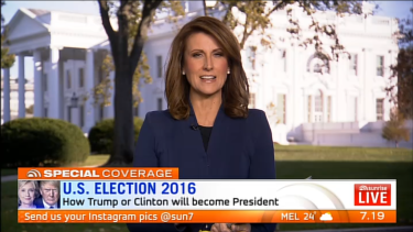 <i>Sunrise</i>'s Natalie Barr is reporting from the White House lawn.