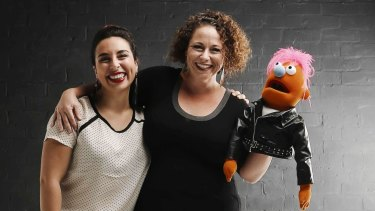 Nadine Bates and Kristen Souvlis from Like a Photon Creative.