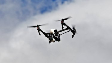 A drone was used by a drug syndicate to keep an eye on police.