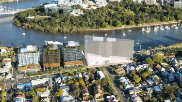 The River and Main towers would be next door to the council-approved 13-storey Banyan Tree Residences.