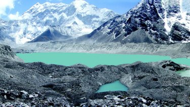 Lake Imja Tsho in a valley situated south of Everest in Nepal
