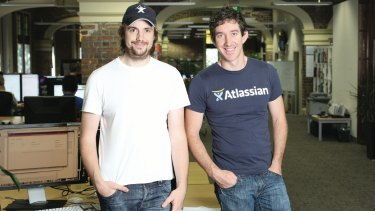 Atlassian's Mike Cannon-Brookes and Scott Farquhar.