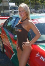Lawyer Kristin Clohessy during her days as a V8 Supercar model.