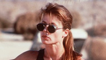 Linda Hamilton in <i>Terminator 2: Judgment Day</i>.
