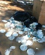 A photo of rubbish taken by Nicole Judge on Manus Island.