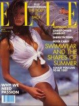 Elle on the cover of Elle Australia back in 1991.