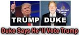 An image from David Duke's website, addressing his support for Trump.