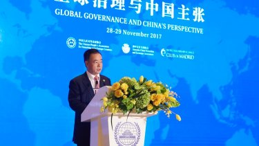 Controversial billionaire and Australian-Chinese political donor, Dr Chau Chak Wing, hosts a conference entitled Global Governance and China's Perspective, at his Imperial Springs resort in Conghua, China.