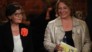 Candidates for Indi Cathy McGowan and Sophie Mirabella (right) during a debate earlier in the 2016 election campaign.