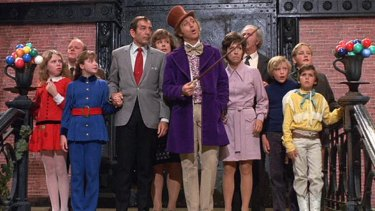 Gene Wilder as Willy Wonka in the beloved recreation of Roald Dahl's book Charlie and the Chocolate Factory.