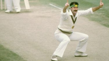 Dennis Lillee in in his playing days.