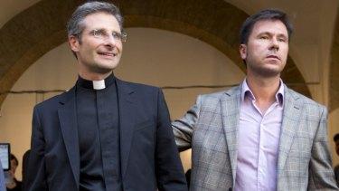 Monsignor Krzysztof Charamsa, and his boyfriend, Eduard.
