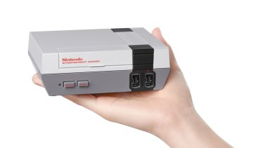 The Mini NES is much smaller than the original, which earned the nickname 'the toaster' for its bulky size and fragile loading tray.
