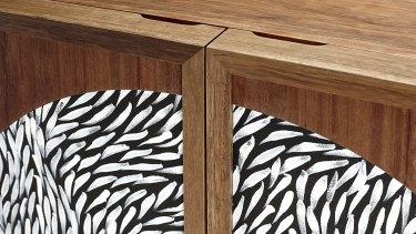 The Chloe Cabinet, by Chloe Walbran, features woven pandanus.