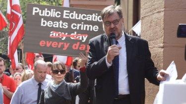 Maurie Mulheron, President NSW Teachers Federation.