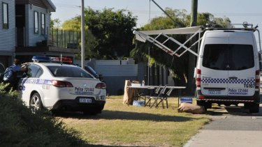 Police search the home owned by Bradley Edwards' parent in Madora Bay.