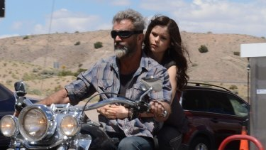 Mel Gibson and Erin Moriarty in <i>Blood Father</i>.