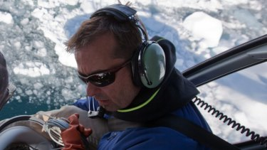 Gordon Hamilton in Greenland in 2010.