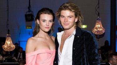New couple alert? Models Montana Cox and Jordan Barrett.
