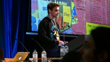 Joshua Rogers discusses some of his NES findings at PAX Melbourne last year.