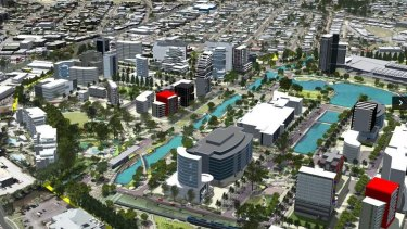 The new-look SunCentral Maroochydore to be developed over the next 20 years.