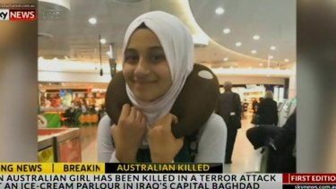 Zynab Al Harbiya, 12, was killed in an attack at an ice-cream parlour in Baghdad.