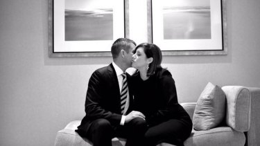 Mike Baird and his wife Kerryn in the shot arranged by Tony Story.
