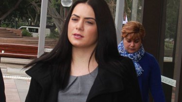 Jessica Silva leaving the NSW Supreme Court in June.