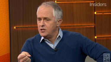 Fired up: Malcolm Turnbull.