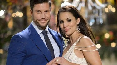 """""""Now that's a rock!"""" After Sam Wood and Snezana Markoski announced their engagement on Instagram on Monday night the post was flooded with comments from fans who gave commentary on Sam's choice of ring."""