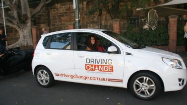 Marlee Ramp learns to drive as part of the Driving Change program.