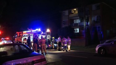 Firefighters believe the fire started in the kitchen before spreading to other apartments in the building.